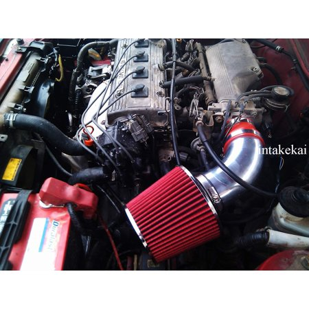 1990 1991 1992 1993 1994 1995 1996 1997 1998 1999 TOYOTA CELICA 1.6L 1.8L 2.2L l4 ENGINE AIR INTAKE KIT SYSTEMS (RED)
