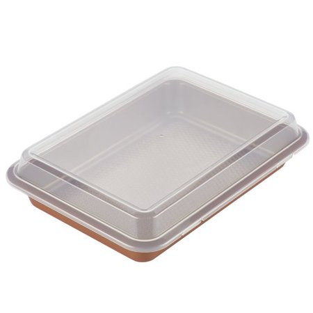 Ayesha Curry Bakeware Covered Cake Pan, 9-Inch x 13-Inch, (Copper Duct Cover)