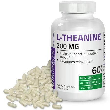 Bronson L-Theanine 200mg Non-GMO Gluten Free Soy Free