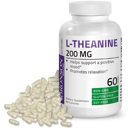 Bronson L-Theanine 200mg Non-GMO Gluten Free Soy Free - 1 Grain Passion Flower Herb