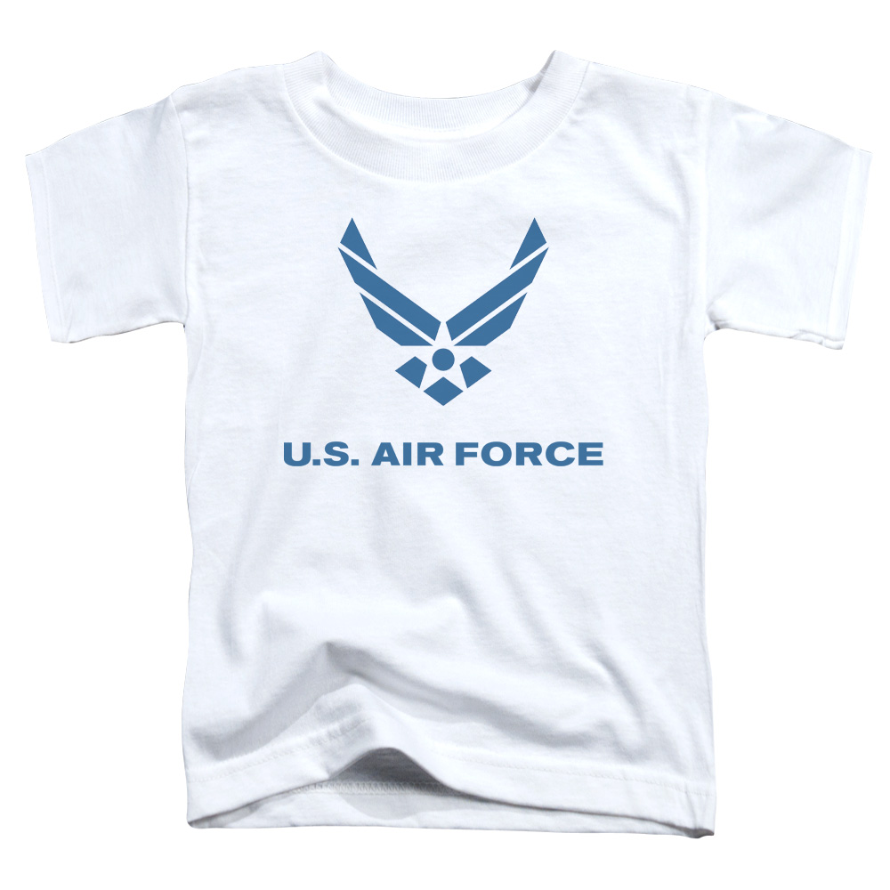 Image of Air Force/Distressed Logo S/S Toddler Tee White Af107