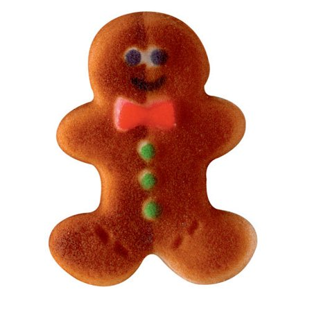 On Sale Gingerbread Man Christmas Assortment Sugar Decorations Toppers Party Favors Cookie Cupcake Cake 12 Count ()