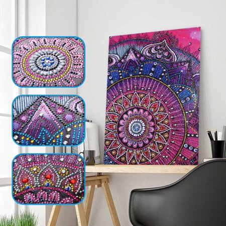 DIY 5D Diamond Painting Kits DIY Drill Diamond Painting Needlework Crystal Painting Rhinestone Cross Stitch Mosaic Paintings Arts Craft for Home Wall Decor Gift 30*40cm - image 3 of 7