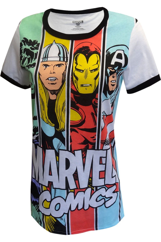 marvel comics ladies avengers team tee shirt