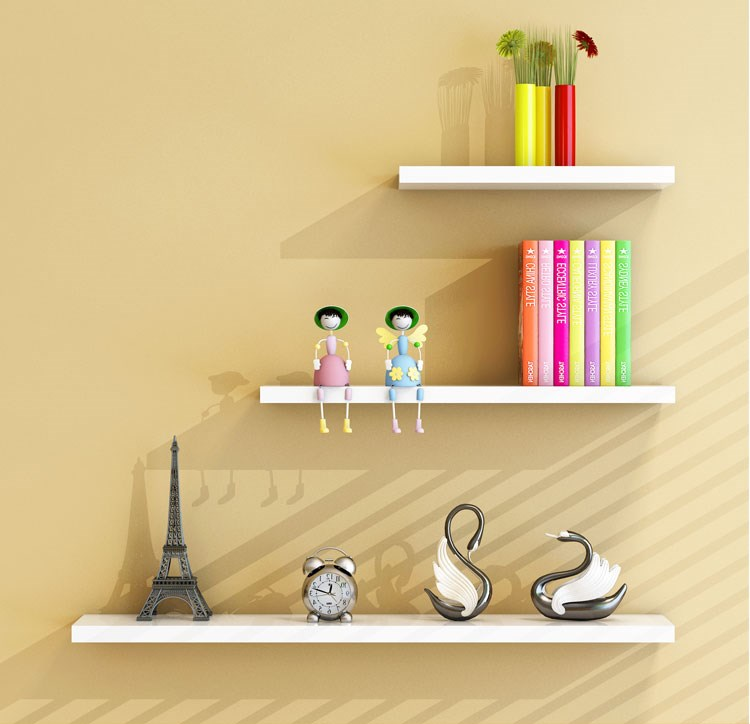 TANBURO Set of 3 Floating Wall Mount Shelves Modern Decorative Display Ledges for Bedroom,Living Room,Kitchen,Office and More,42/32/22CM