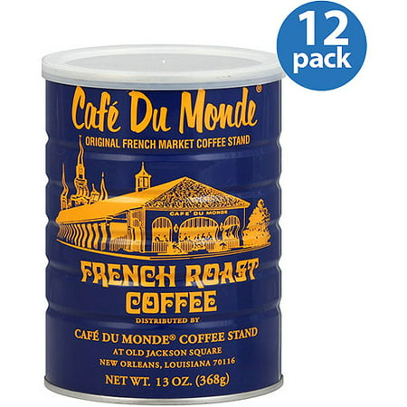 Cafe Du Monde French Roast Coffee, 13 oz, (Pack of 12)