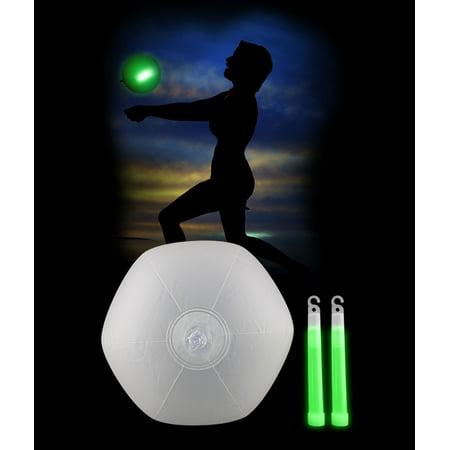 Fun Central AK047 Glow in the Dark Beach Ball- Green](Beach Ball Lights)