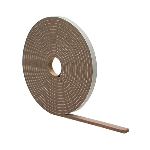 "M-D Building Products 2790 3/16"" x 3/8"" x 17' High Density Closed Cell Foam Weatherstrip Tape (Brown)"
