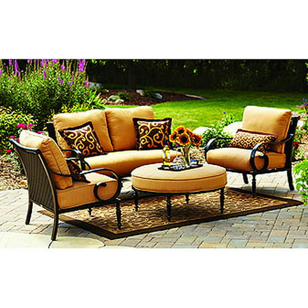 Better homes and gardens englewood heights 4 piece outdoor conversation set 7 better homes and gardens