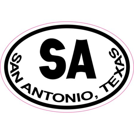 Party City In San Antonio Texas (3in x 2in Oval San Antonio Sticker Vinyl Texas Texan City Bumper)