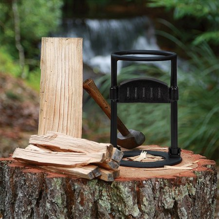 Faux Wood Log - XtremepowerUS Firewood Log Splitter Kindling Wood Cracker DIY Manual Log Wood Stove Splitter Foldable Kindling