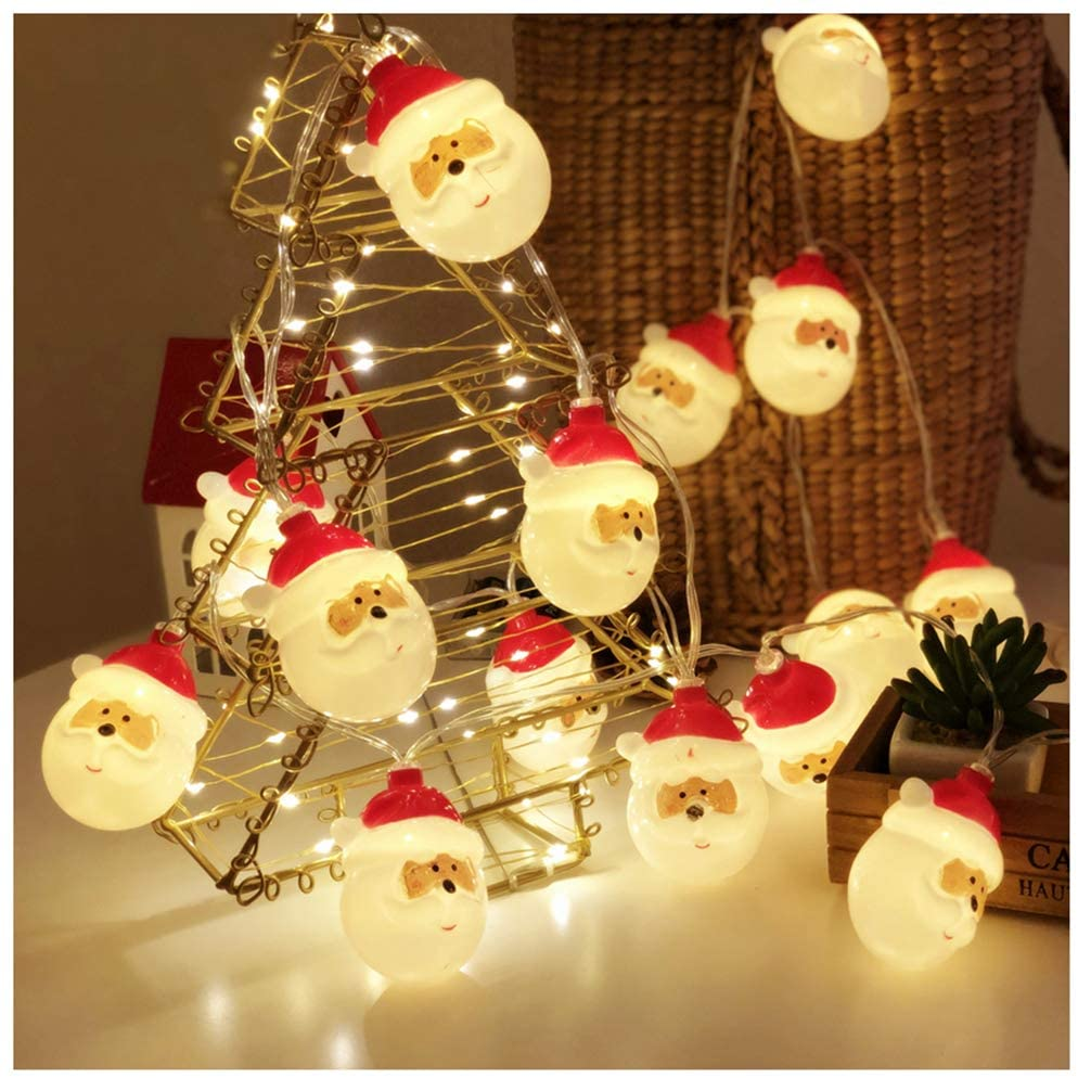 Details about  /Christmas Decoration LED Santa Claus String Lights