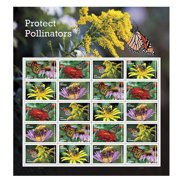 protect pollinators sheet of 20 forever usps first class one ounce postage stamps environment wedding party