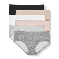 Secret Treasures Women's Plus Seamless Hipster Panties, 6 Pack