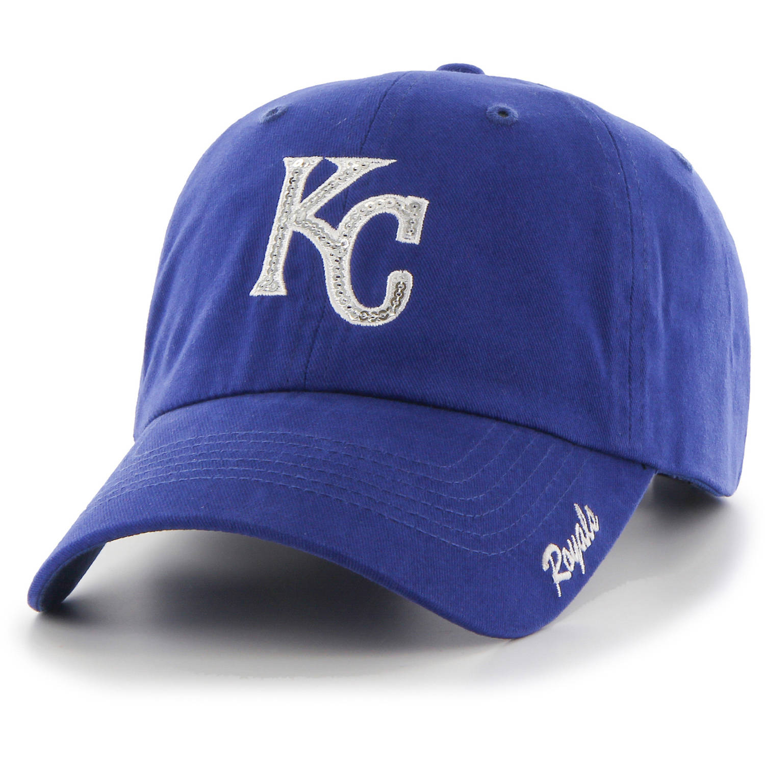 MLB Kansas City Royals Sparkle Women's Adjustable Cap Hat by Fan Favorite by Overstock