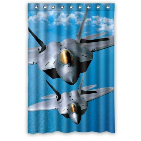 - GreenDecor Us Air Force F Raptor In The Sky Waterproof Shower Curtain Set with Hooks Bathroom Accessories Size 48x72 inches