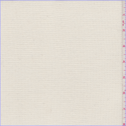 Ivory Thermal Knit, Fabric By the Yard