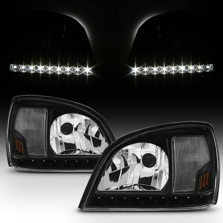 Fit Black 2000 2001 2002 2003 2004 2005 Cadillac Deville LED Headlights (1996 Cadillac Deville Headlight)