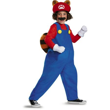 Child's Boys Deluxe Nintendo Super Mario Brothers Raccoon Costume