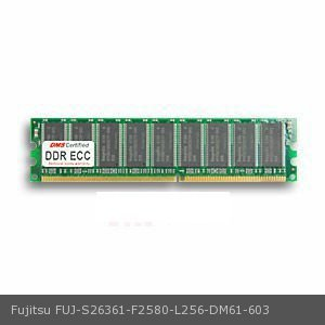 - DMS Compatible/Replacement for Fujitsu S26361-F2580-L256 PRIMERGY Econel 10 256MB DMS Certified Memory DDR PC2100 266MHz ECC 32x72 CL2.5  2.5v DIMM - DMS