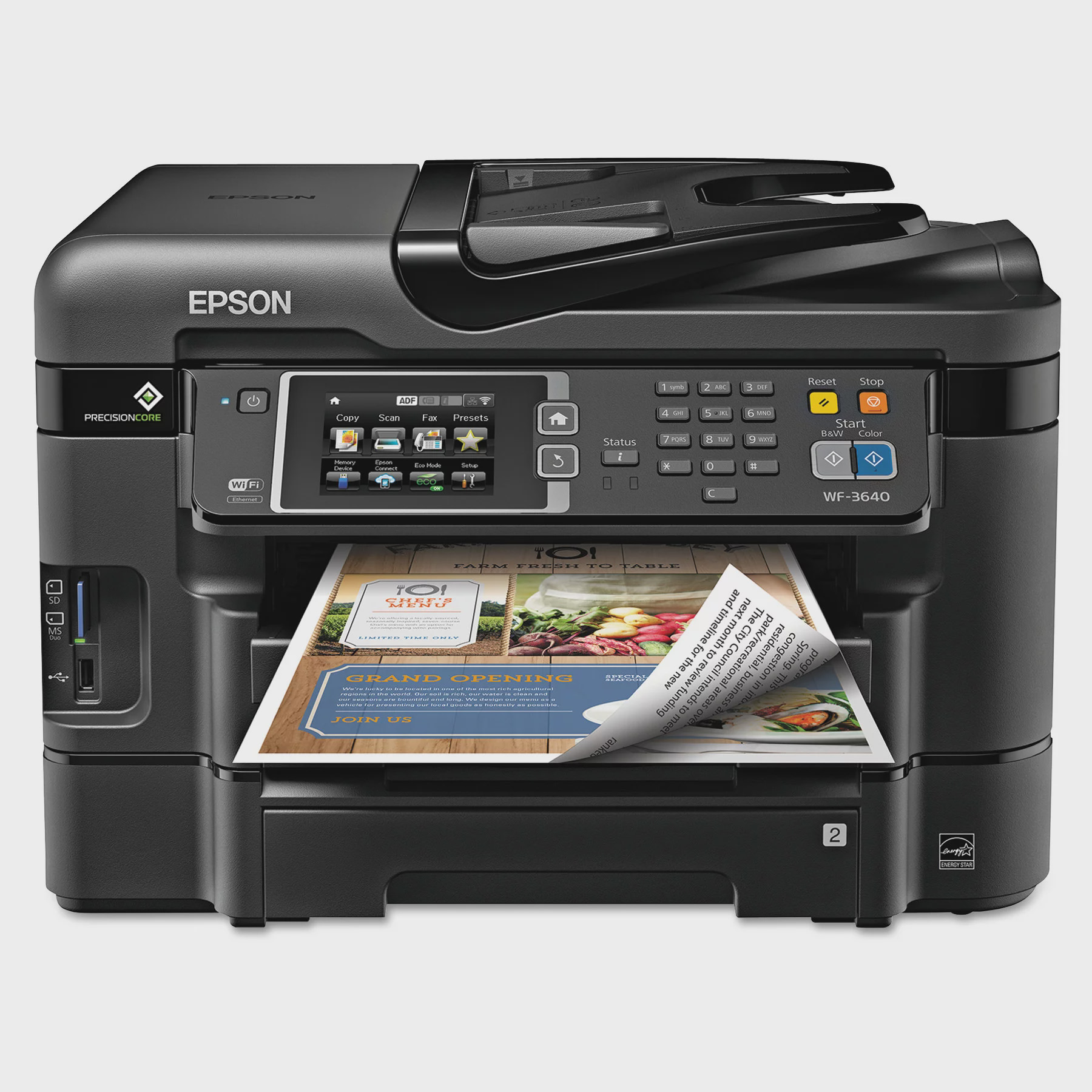 Epson WorkForce WF-3640 All-in-One Wireless Color Printer Copier Scanner Fax Machine by Epson