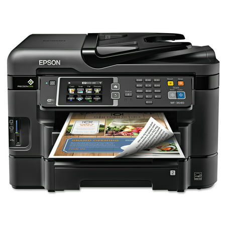 Epson WorkForce WF-3640 All-in-One Wireless Color Printer/Copier/Scanner/Fax - X4270 All In One Color