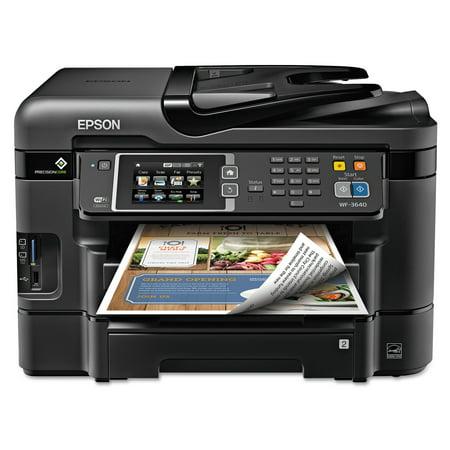 Epson WorkForce WF-3640 All-in-One Wireless Color Printer/Copier/Scanner/Fax