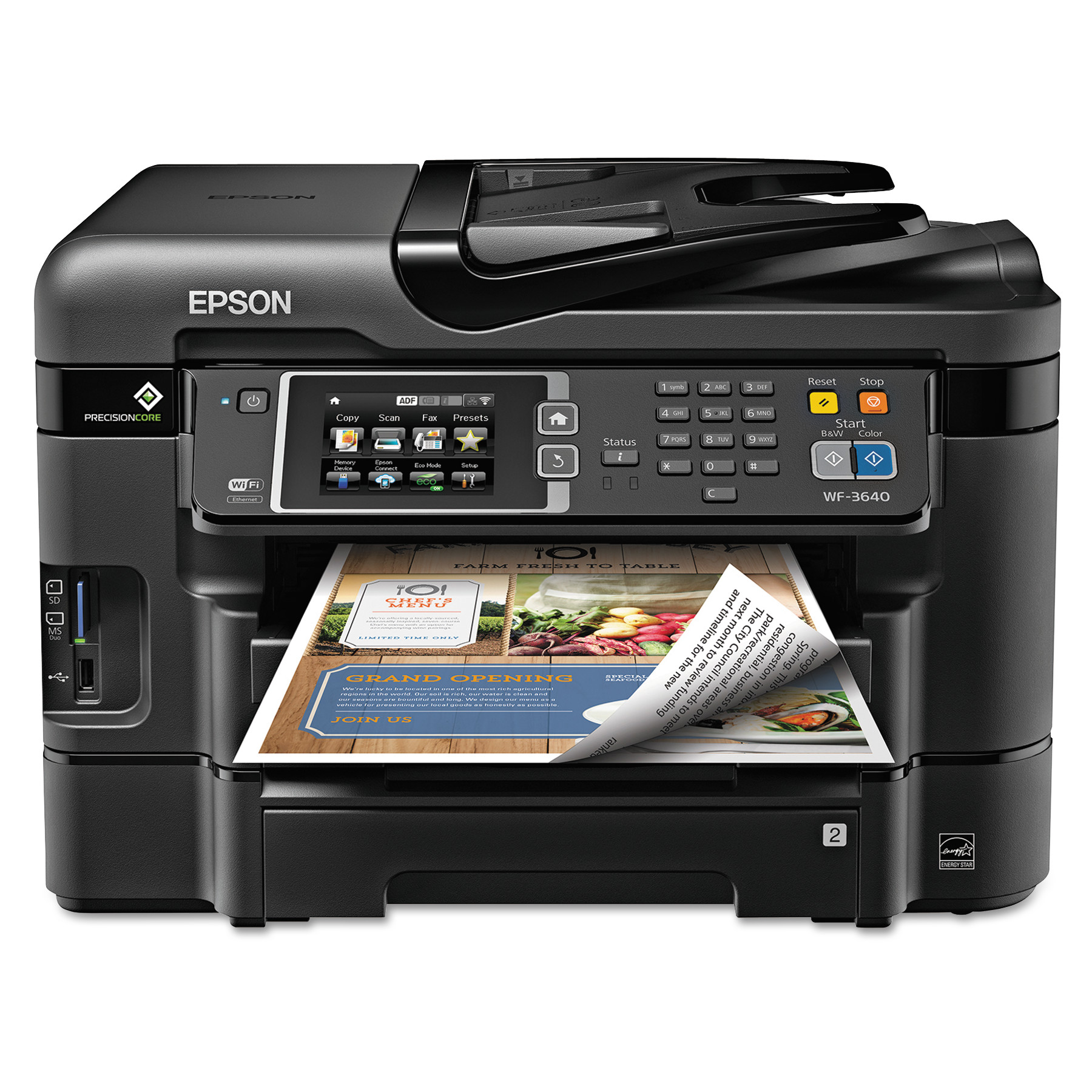 Epson WorkForce WF-3640 All-in-One Wireless Color Printer/Copier/Scanner/Fax Machine