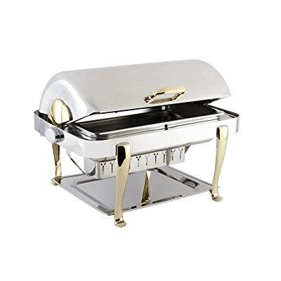 Bon Chef 19040 Elite Series Stainless Steel Rectangular Chafing Dish with Roman Legs, 2 gal Capacity by Bon Chef