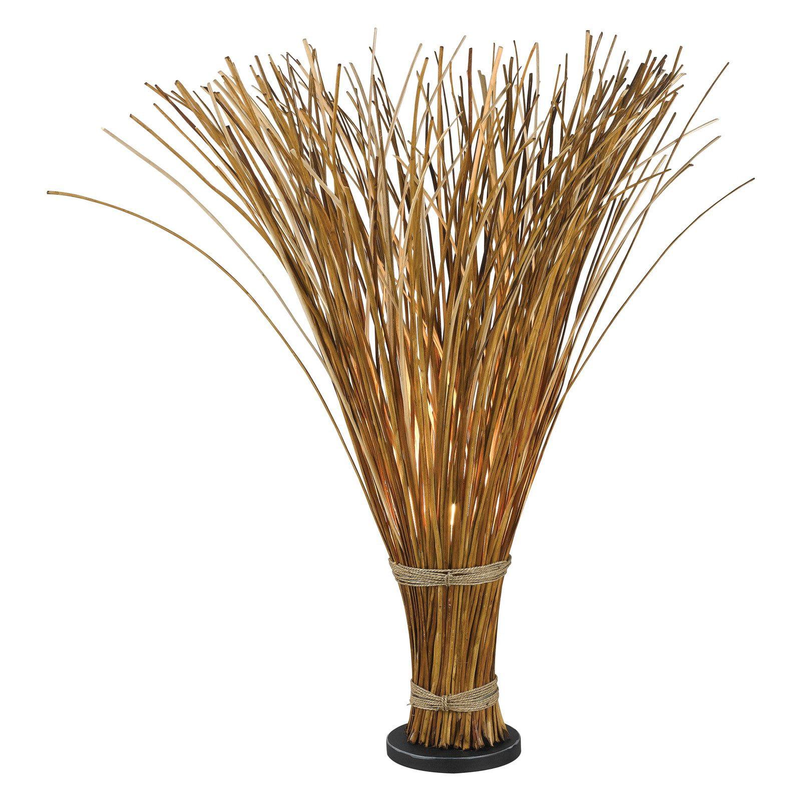 Kenroy Home Sheaf Floor Lamp, Natural Reed