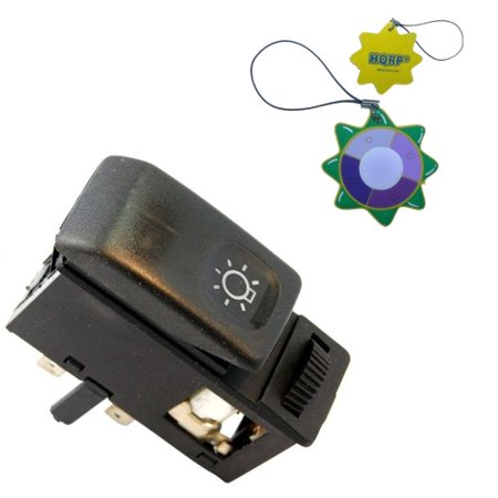 HQRP Head Light / HeadLight Switch Dash Button for VW JETTA Mk2 (19E, 1G2) 1985 1986 1987 1988 1989 1990 1991 1992 replacement plus HQRP UV Meter