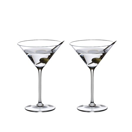 Small Martini Glasses (Riedel Vinum Crystal Inverted Cone Shaped XL Martini Glass, 9.52 Ounce (2)