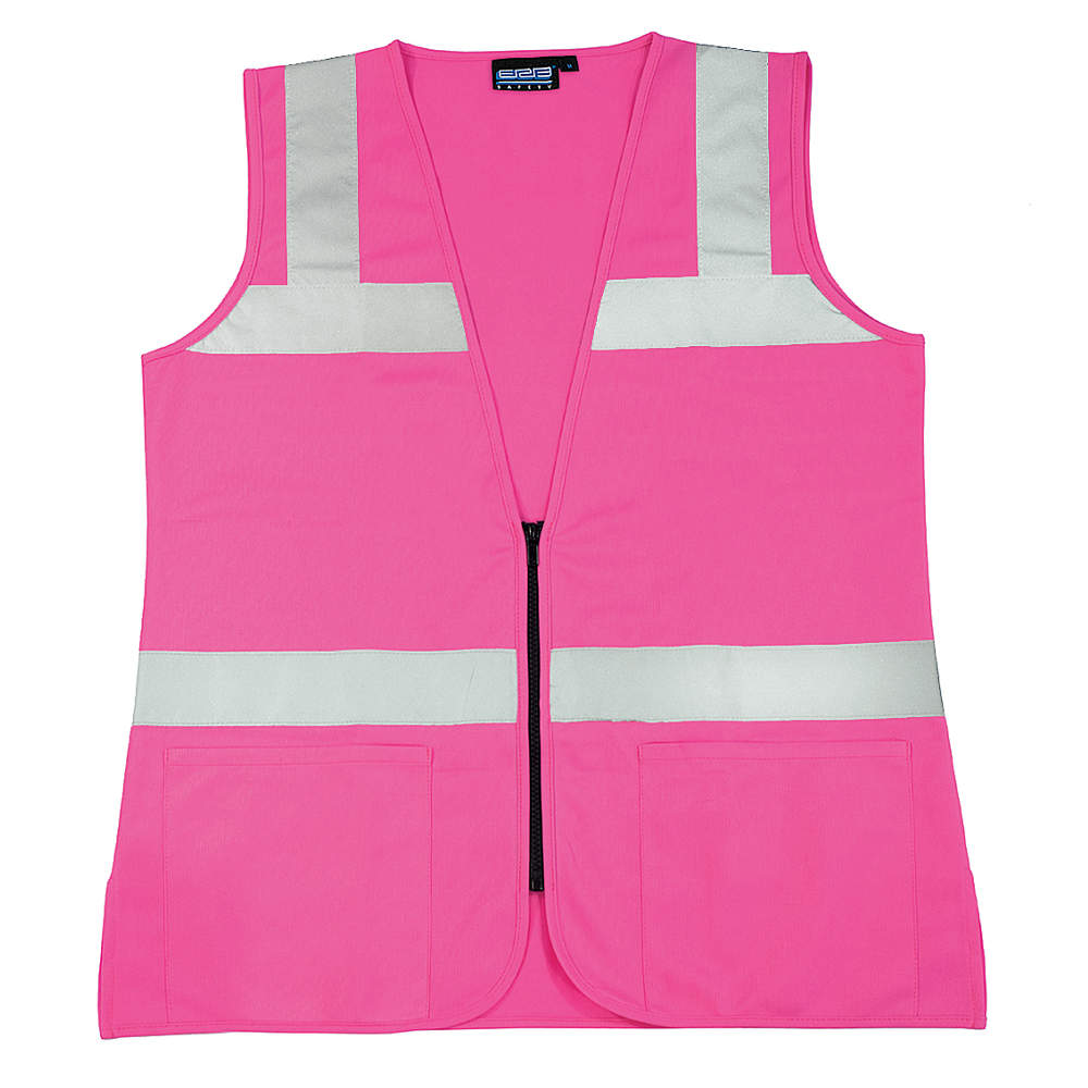 ERB SAFETY High Visibility Vest, Unrated, Pink, 2XL S721  61913