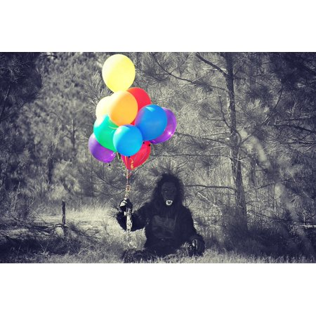 LAMINATED POSTER Balloons Costume Monkey Halloween Gorilla Person Poster Print 11 x 17