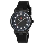16591Sm-Bb-01 Layla Diamond Black Silicone Black And Mop Dial Ss Watch