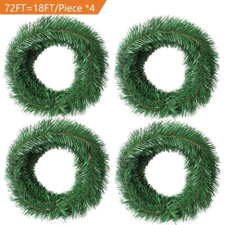 72 Foot Artificial Christmas Garland Christmas Decorations Non-Lit Soft Green Garland Outdoor Indoor Use- Brightens Christmas Holiday Wedding Party Festival Decor - Fall Festival Decorations