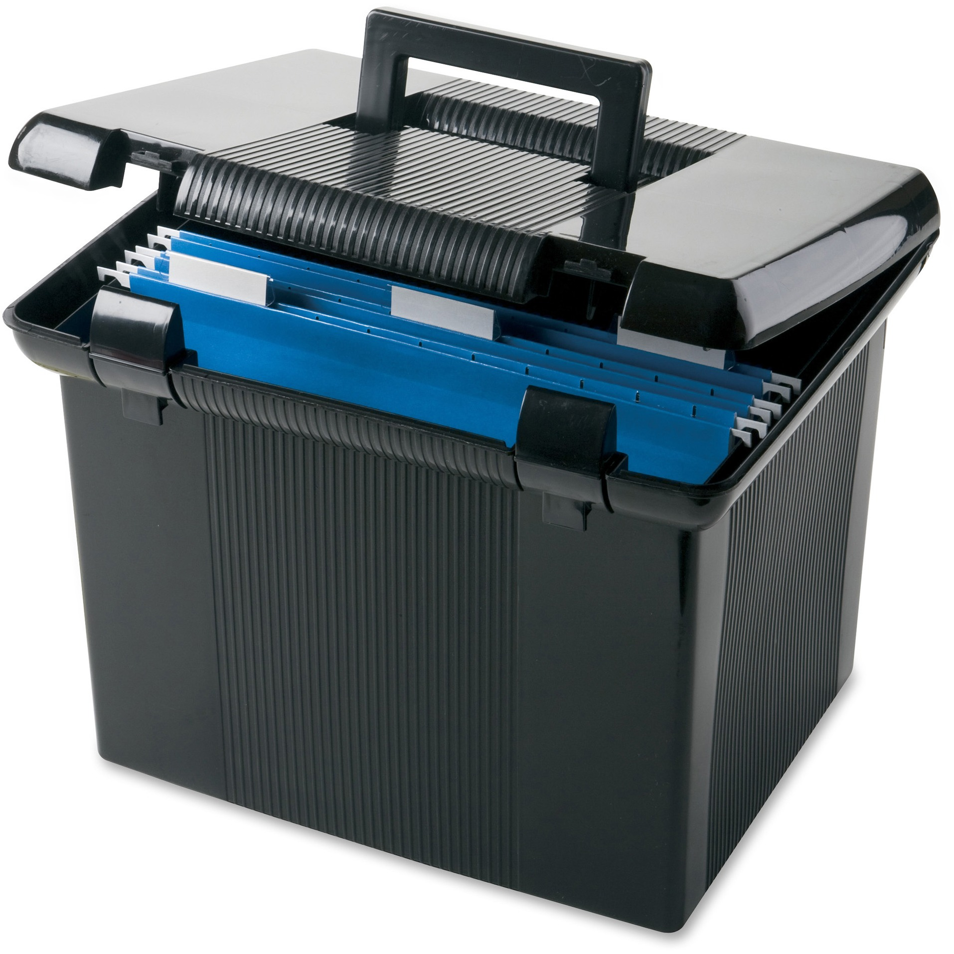 Pendaflex Portafile File Storage Box, Black, 1 Each (Quantity)