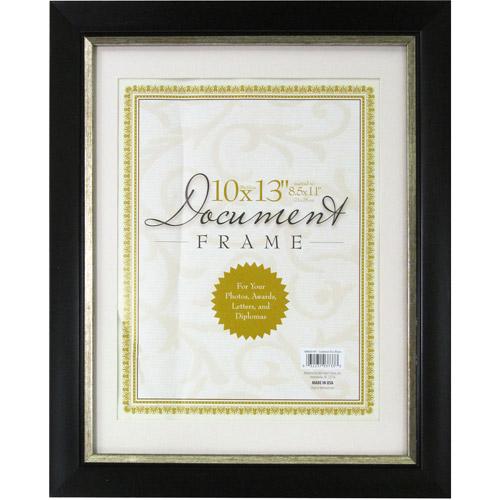 10x13 Document Frame, Black/Gold