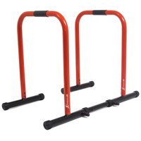 ProsourceFit Dip Stand Station Body Press Bar with Safety Connector