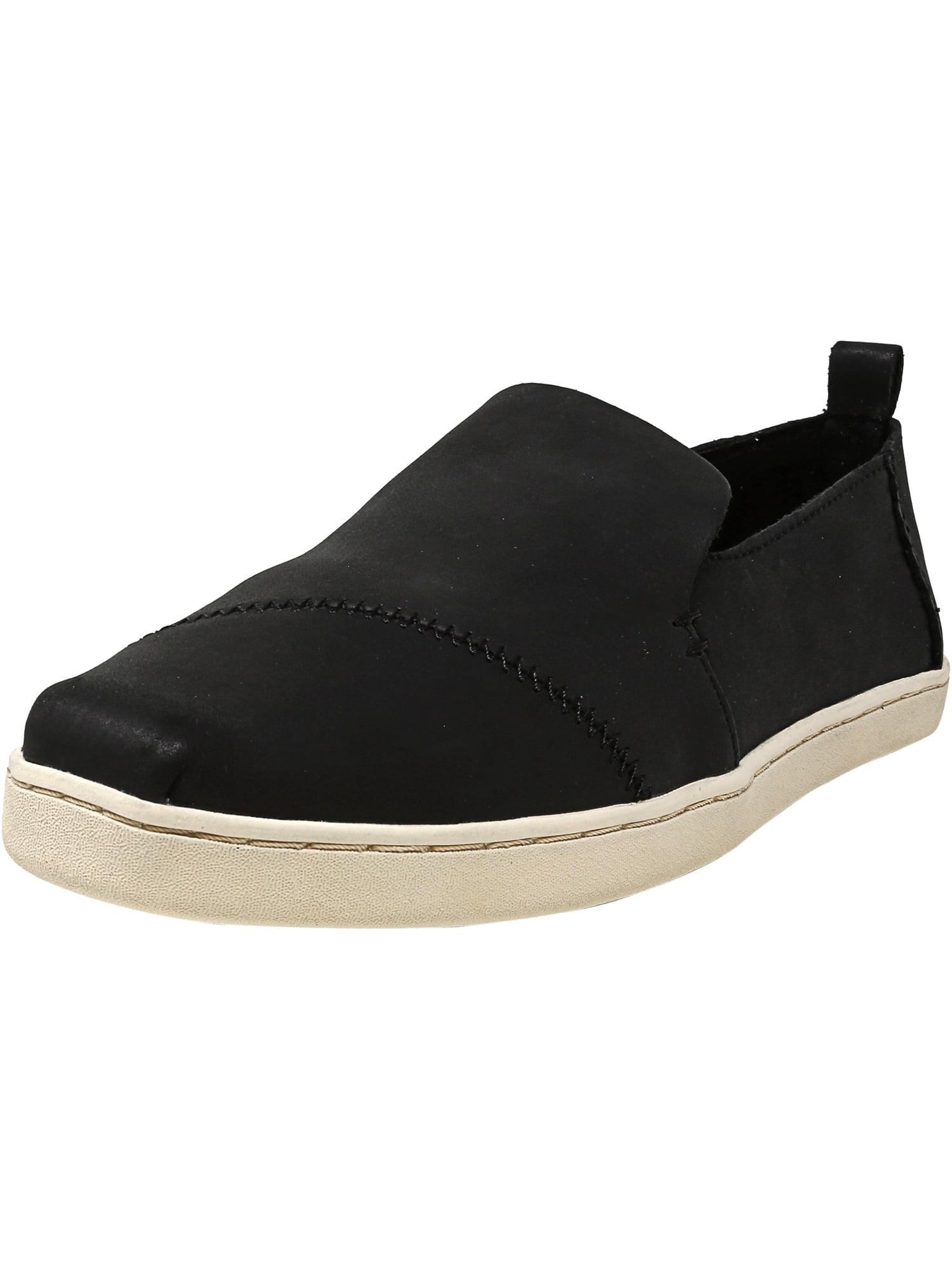 1de3b0d4625 Toms Women s Deconstructed Alpargata Leather Black Ankle-High Slip-On Shoes  - 9.5M