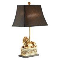 Benzara Royal Lion Polyresin Table Lamp - Set of 2