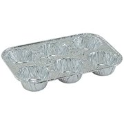 4 Pack Disposable Recyclable Aluminum Foil 6 Muffin Pan