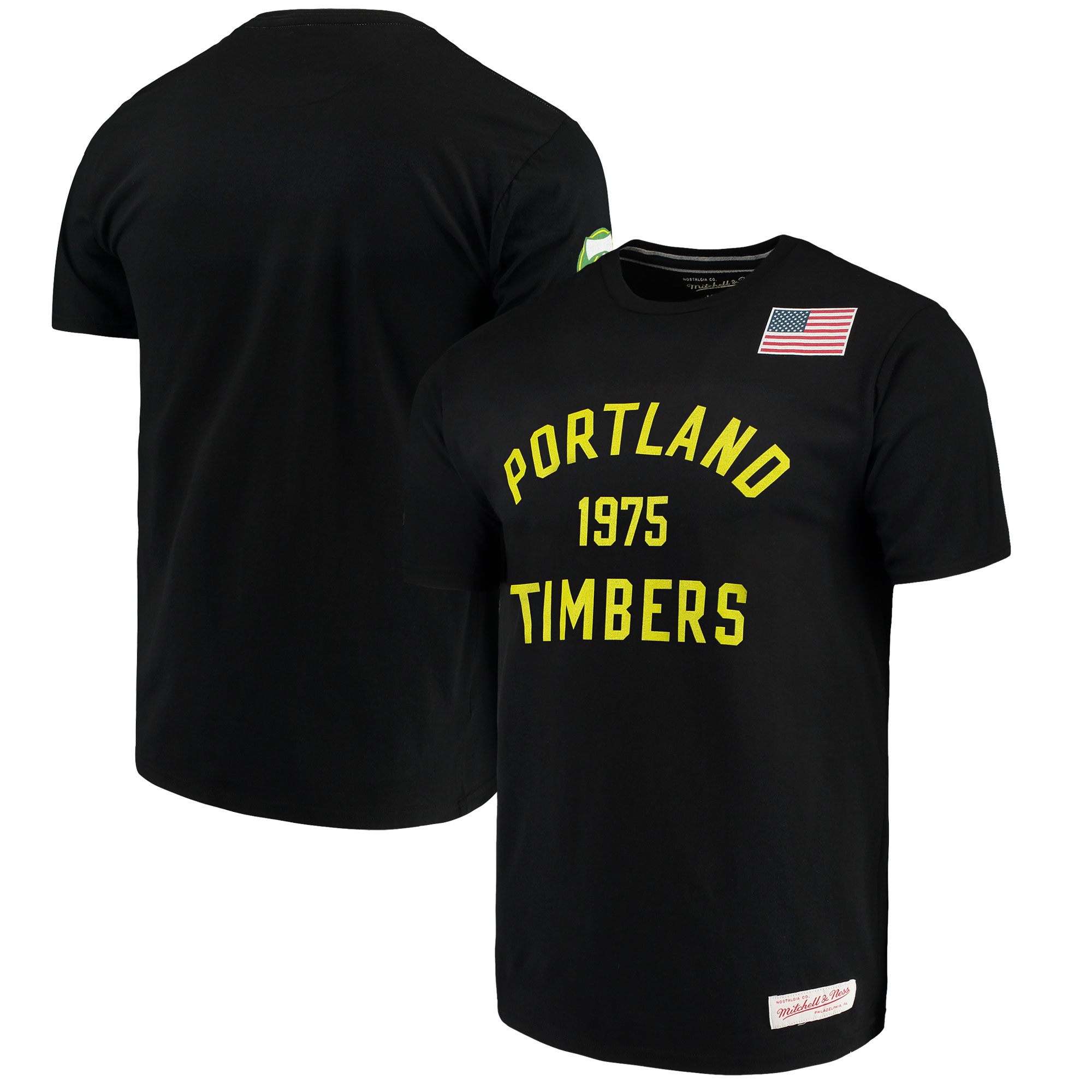 Portland Timbers Mitchell & Ness Team History Tailored T-Shirt - Black