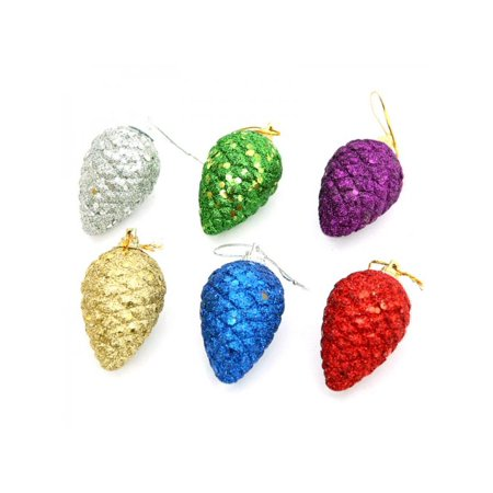 Pine Cone Craft (Christmas Colored Pine Cones Christmas Tree Ornaments Decorative Ball)