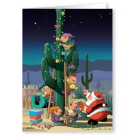 Western Christmas Cards  - Desert Cactus Decorating Christmas Card 18 cards and 19 envelopes -40021