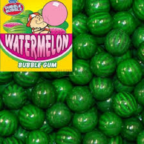 "5LB WATERMELON DUBBLE BUBBLE 1"" 24MM  VENDING MACHINE BULK GUMBALL CANDY"