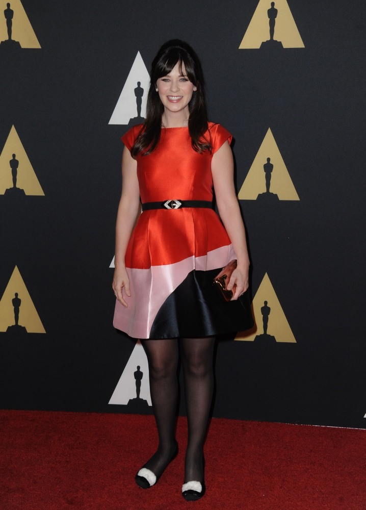 Post-Pregnancy Zooey Deschanel Stuns at Governors Awards