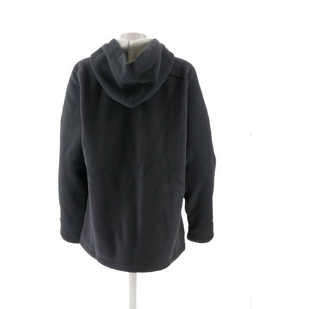 Denim & Co Zip Fleece Jacket Hood Sherpa Lining Women's A209822 - image 4 of 5