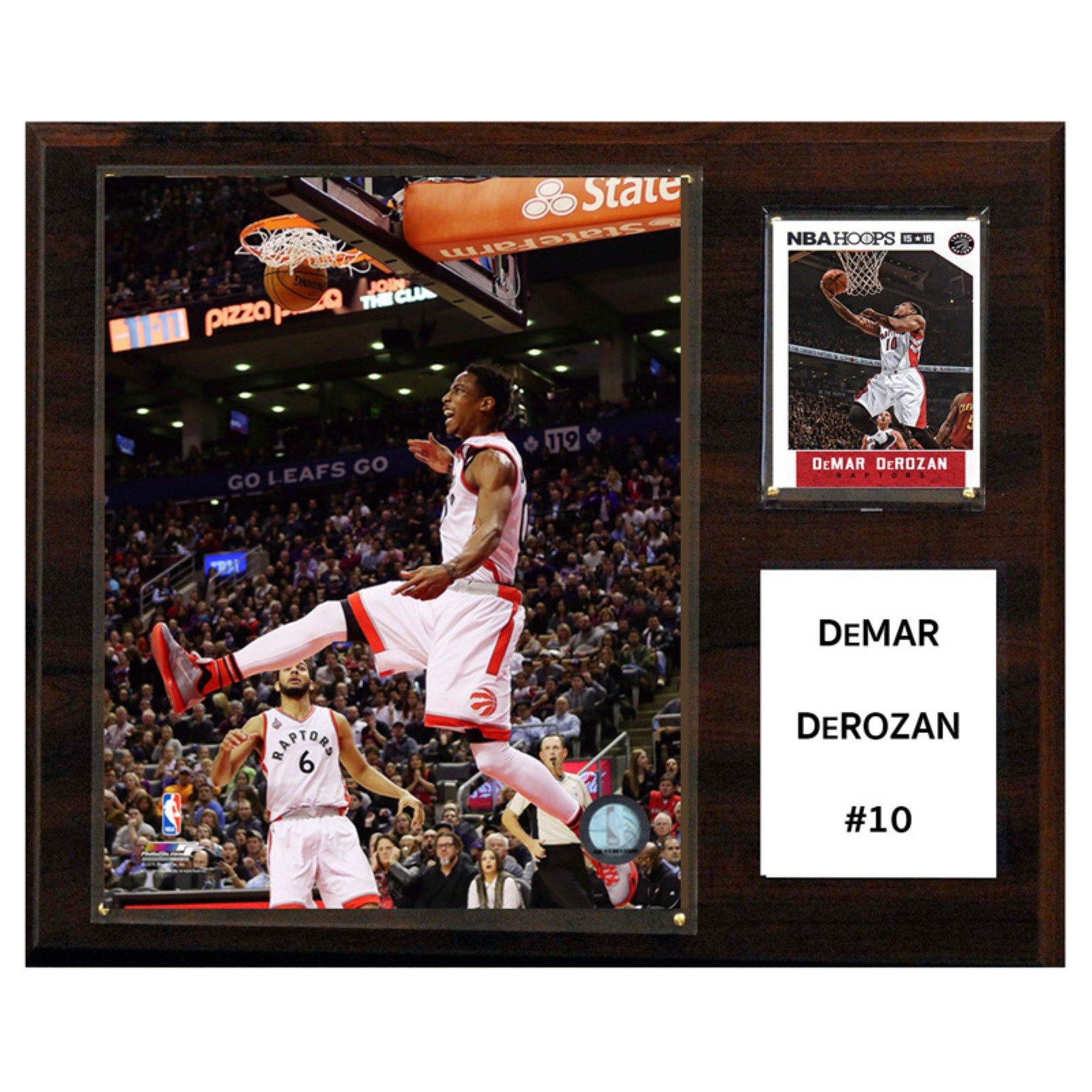 C&I Collectables NBA 12x15 Demar DeRozan Toronto Raptors Player Plaque