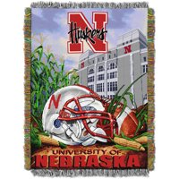 "NCAA 48"" x 60"" Tapestry Throw Home Field Advantage Series- Nebraska"